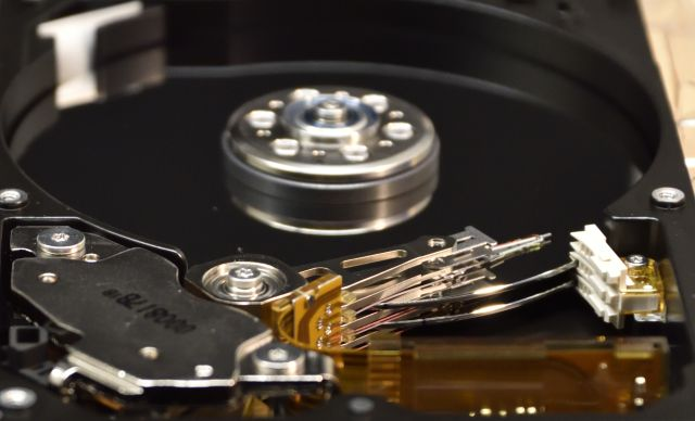Image of a hard disk