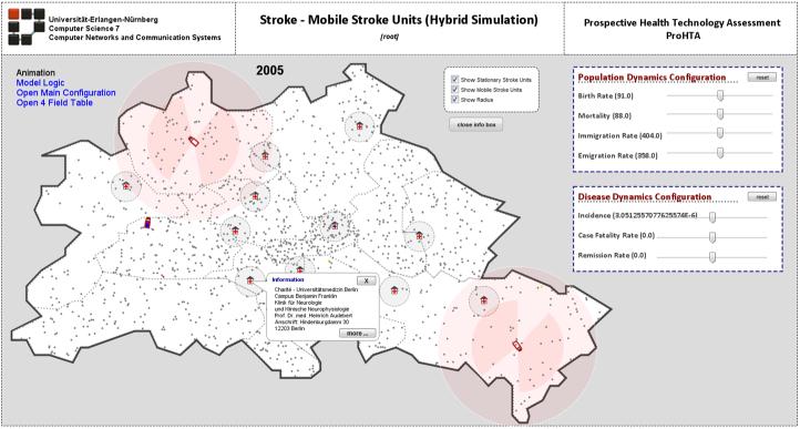 Graphische Darstellung der mobilen Stroke Units in Berlin