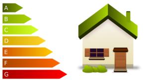 Graphik - Haus mit Energieklassen